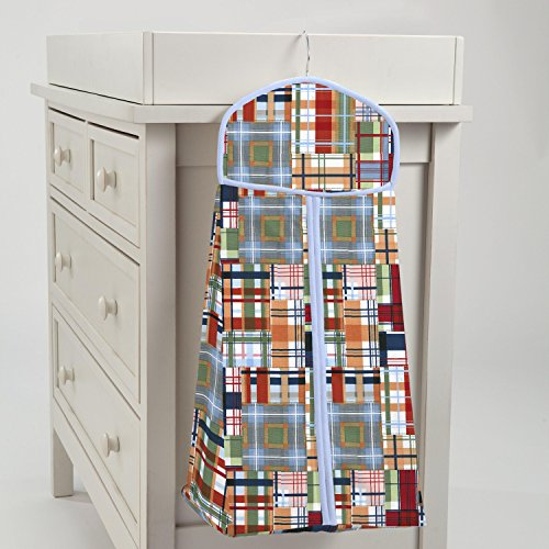 Carousel Designs Patchwork Plaid Diaper Stacker by Carousel Designs