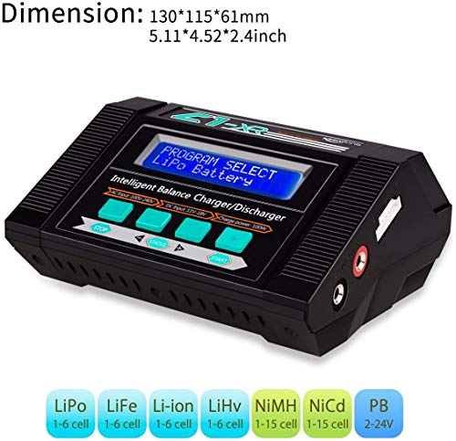 Lipo Battery Charger, Keenstone RC Battery Charger /Discharger with Low Voltage Checker, 10A 100W AC/DC 1S-6S Digital Battery Balance Charger for Li-Po Li-Hv Li-Ion Li-Fe NiMH Ni-Cd Pb