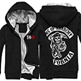 SOA Costume Cosplay Hoodie Cotton Jacket Coat Adults Clothing Mens Black M
