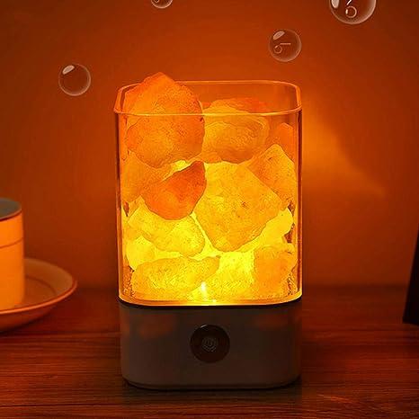 Lámpara de sal de cristal Yoga Luz nocturna 3D con ...