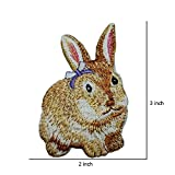 R2K 2 Pcs. RABBIT - BUNNY-FOREST ANIMALS - PETS/Iron On Embroidered Patch