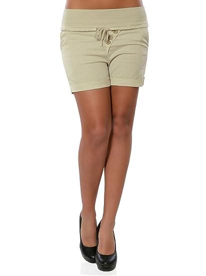 Minetom Mujer Pantalones Cortos Verano Casual Flaco Elástico ...