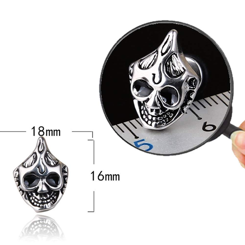 Babasee Vintage Titanium Steel Skull Punk Earrings Halloween Studs Earrings Ghost Head