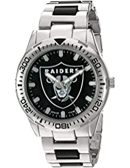 Game Time Mens Heavy Hitter  Metal and Alloy Quartz Analog  Watch, Color:Silver-Toned (Model: NFL-HH-OAK)