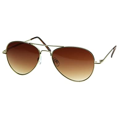 Amazon.com  zeroUV - Small Frame Women Aviator Sunglasses for Small Faces  50 mm (Gold)  Shoes a243539c85c