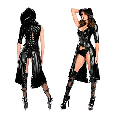 Sexy Gothic Punk Black Catsuit Costume (Sexy Gay Halloween Costumes)