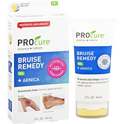 Procure Bruise Remedy Gel 2 Fl Oz  Bruise Remedy Gel With Arnica  Helps Improve The Appearance Of Bruises And Spider Veins On Foot And Ankle