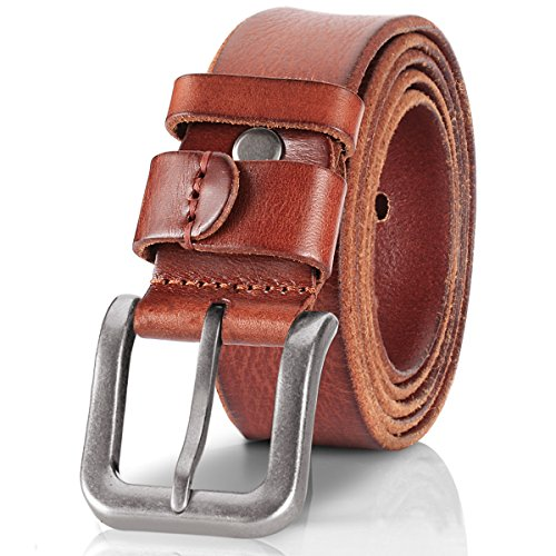 Lecxci Crazy horse Leather Single Buckle