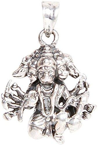 Panchmukhi hanuman bajrang bali silver pendant amazon jewellery panchmukhi hanuman bajrang bali silver pendant aloadofball Choice Image