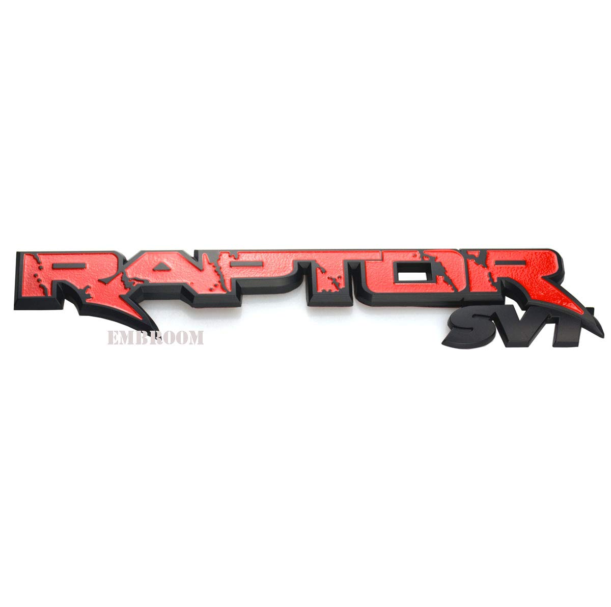Red EmbRoom Raptor SVT Tailgate Emblem 3D Badge 09-14 Trunk Car Sticker Decal Replacement for Ford F150