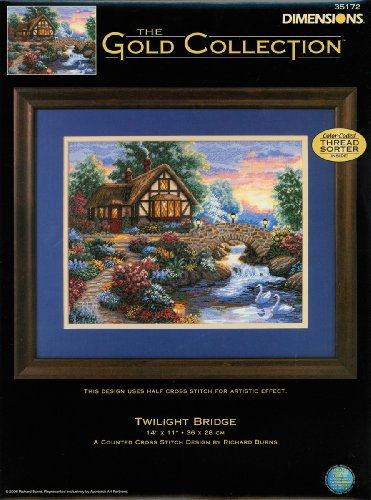 Dimensions Counted X Stitch -gold, Twilight (Gold Collection Twilight Bridge)