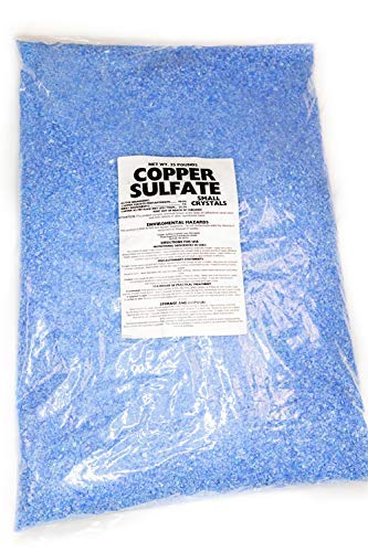 Copper Sulfate Small Crystals 25lb Bag by Earthworks Health LLC