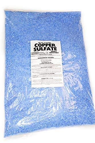 Copper Sulfate Small Crystals 25lb Bag 99% Pure