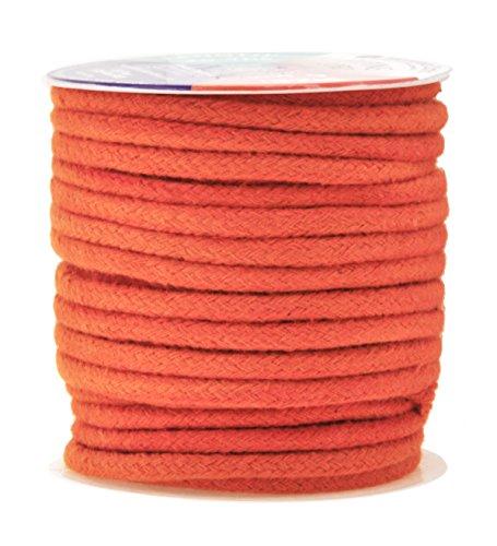 Mandala Crafts Soft Drawstring Replacement Rope Upholstery Crochet Macramé Cotton Welt Trim Piping Cord (Orange, -