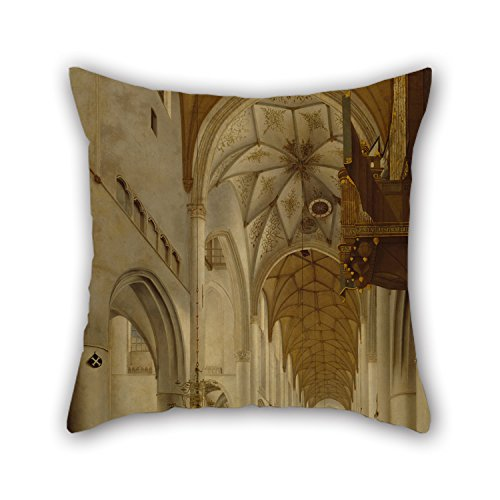 Elegancebeauty 20 X 20 Inches / 50 By 50 Cm Oil Painting Pieter Jansz. Saenredam - The Interior Of St Bavo's Church, Haarlem (the 'Grote Kerk') Pillow Shams,two Sides Is Fit For