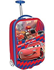 Disneys Cars ABS Rolling Suit Case Luggage Bag - Red / Blue - One Size