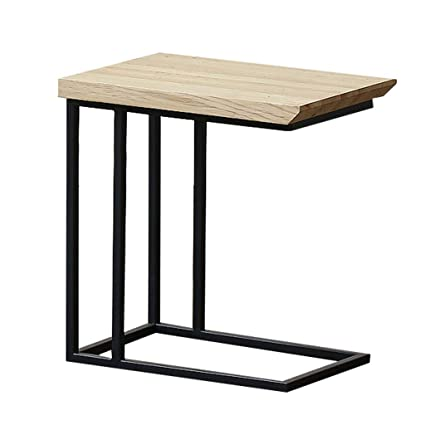 Sidetable 25 Cm.Coffee Table Simple Wrought Iron Wood Stable Non Slip Living