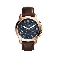 Fossil Men's FS5068 Grant Analog Display Analog Quartz Brown Watch