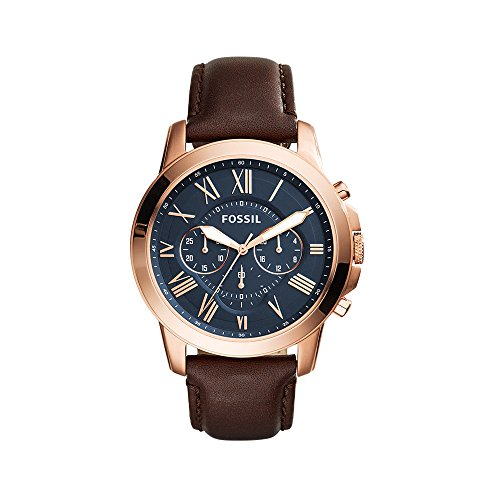 fossil-mens-fs5068-grant-stainless-steel-watch-with-brown-leather-band
