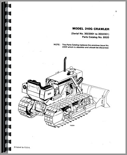 Case 310G Crawler Parts Manual pdf epub