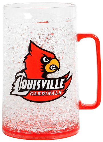 NCAA Louisville 36-Ounce Crystal Freezer Monster Mug