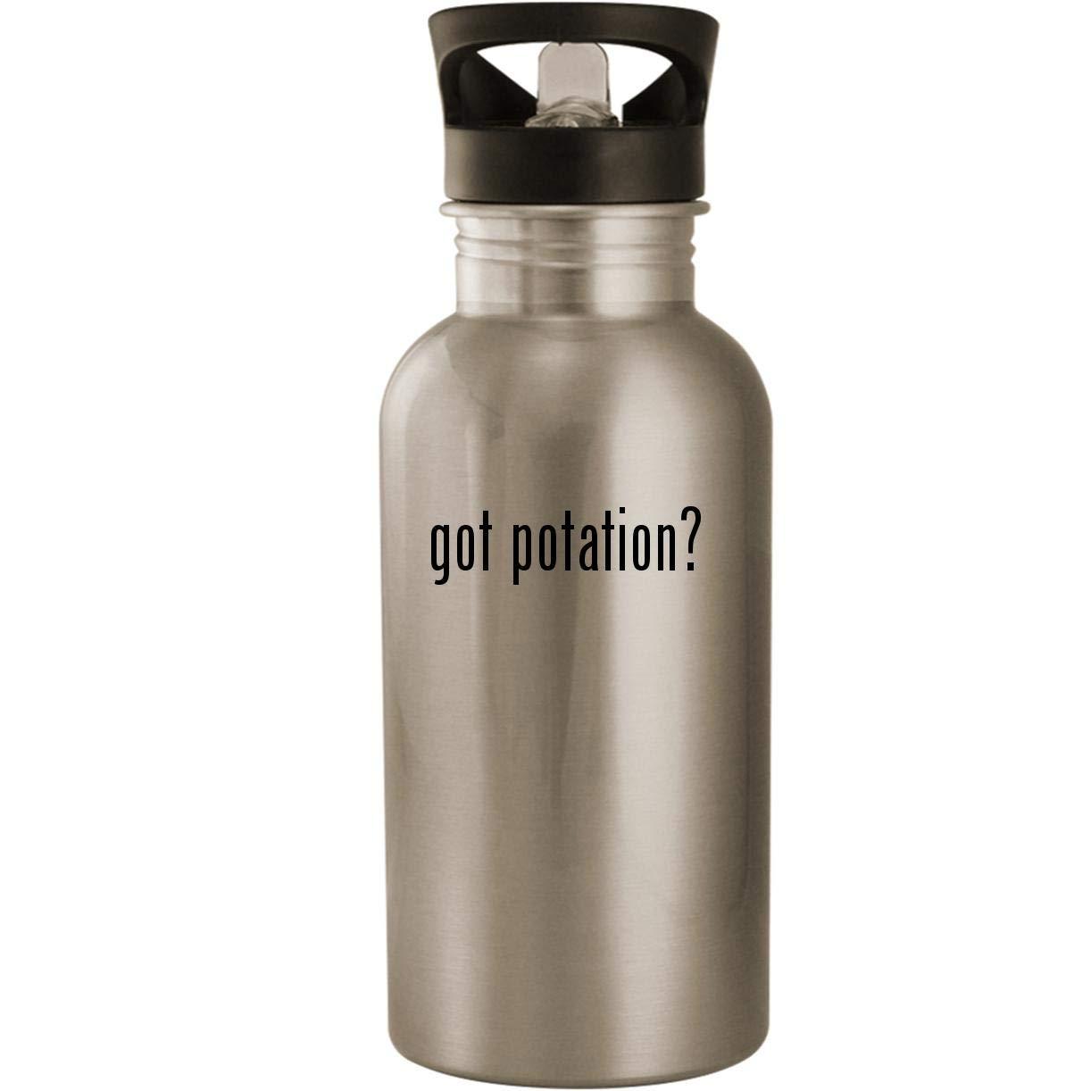 got potation? - Stainless Steel 20oz Road Ready Water Bottle, Silver