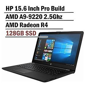 Hp 15.6 Inch HD Thin and Light Laptop ( 7th Gen AMD A6-9220 2.5Ghz APU, 4GB DDR4 Memory, 128GB SSD, Wireless AC, HDMI, Bluetooth, WIndows 10)