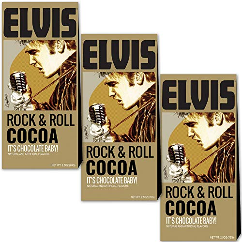 ((Set/3) Elvis Presley Cocoa 2.5 Oz Boxes Of The Kings Favorite Hot Chocolate)