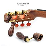 """KING"" Handcrafted Wooden Guitar String Winder by Tenor. Designed For Classical, Flamenco, Acoustic, Electric Guitars and Ukuleles. Made Of Solid Handpicked KING Wood. Beautiful Vintage Look."