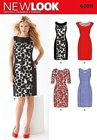 New Look Schnittmuster Nr. 6209 Kleider für Damen, Kleidergrößen 36 ...