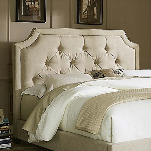 Liberty Furniture 400-BR13HU Upholstered Sloped Panel Headboard, Queen, Natural