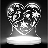 Total Dreamz Bird and Heart Multicolored LED Night Light