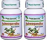 Planet Ayurveda Ashwagandha, 500mg Veg Capsules - 2 Bottles