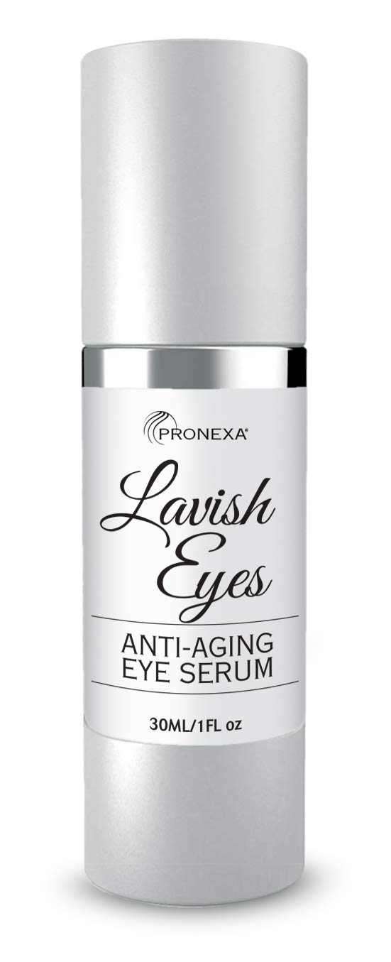 Pronexa Hairgenics Lavish Eyes: Anti-Aging Under Eye Gel Serum to Reduce the Appearance of Dark Circles, Puffiness, Bags, Wrinkles, Fine Lines & Crows Feet Around Eyes. 1.0 FL OZ. by Pronexa Hairgenics