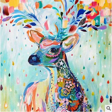 Faraway Clorful Deer 5D DIY Diamond Painting Modern Art Picture Of Rhinestones Cross Stitch Embroidery Mosaic Painting for Wall Decor 30x37CM