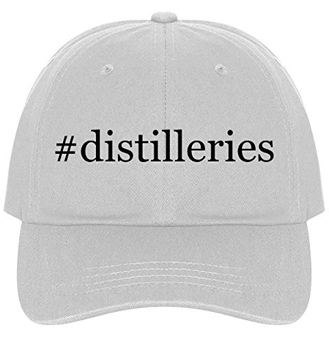 The Town Butler #Distilleries - A Nice Comfortable Adjustable Hashtag Dad Hat Cap, White