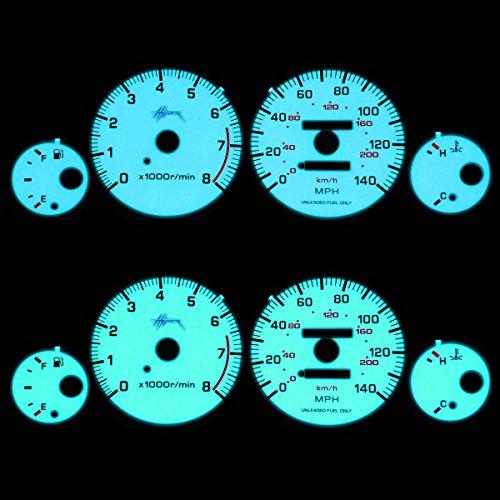 For Nissan Maxima Indiglo Reverse Glow Gauge - A32 Black Reverse Glow Gauge