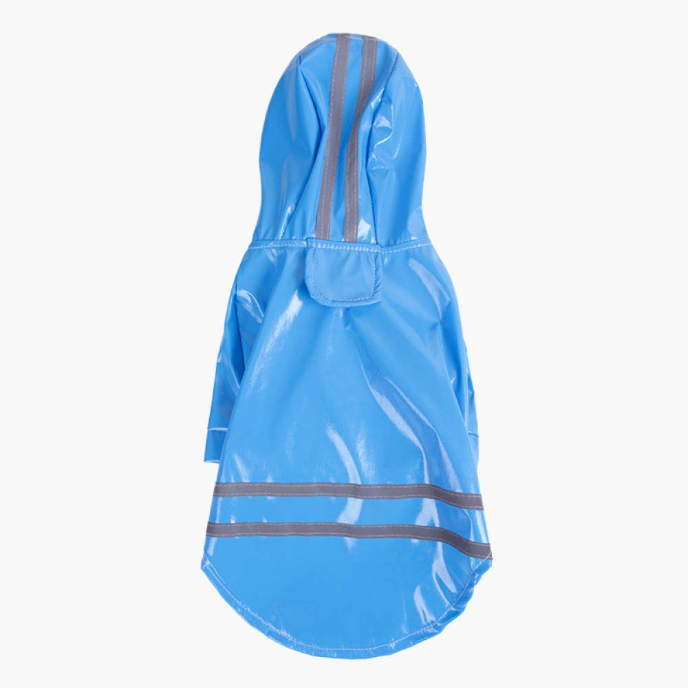 bluee XL bluee XL GJJ Pet Raincoat, Dog Spring and Summer, Hooded Windproof, Waterproof Jacket, House pet PU Reflective Vest Null