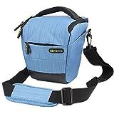 Camera Case - Evecase Digital SLR / DSLR Professional Camera Shoulder Bag For Compact system, Hybrid, SLR / DSLR and High Zoom Camera - Blue