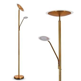 Brilliant Ag 93008 76 Spari 4 Lampadaire Avec Liseuse Aluminium