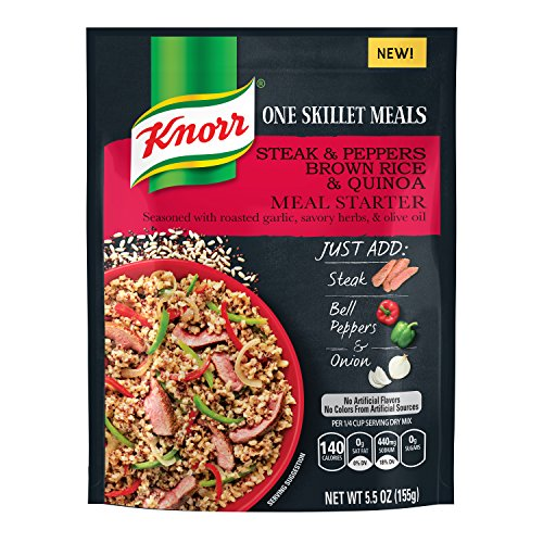 Knorr One Skillet Meals Meal Starter, Steak and Peppers Brown Rice & Quinoa 5.5 (Garlic Brown Rice Couscous)