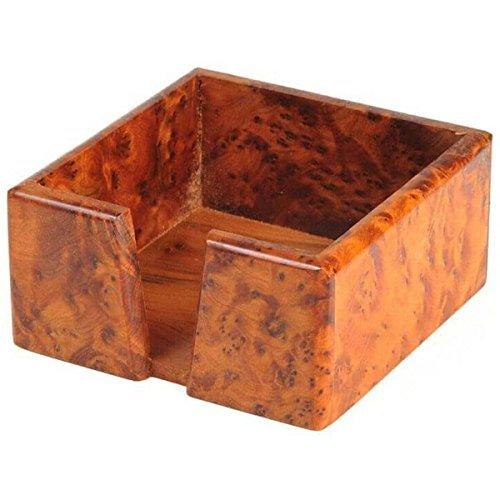Scatola porta memo portapenne Foglietti porta blocco note penne Box Porta blocco appunti ufficio legno Thuja Simandra