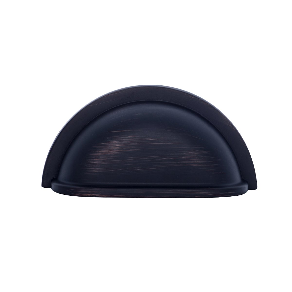 3.43 Overall Length Flat Black -10 Pack 3 Hole Center Basics Traditional Bin Cup Drawer Pull