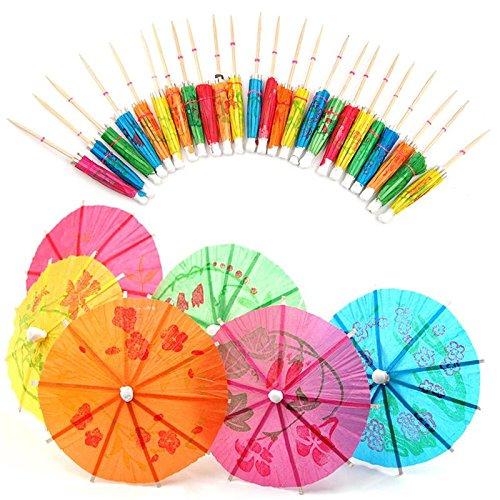 er Cocktail Parasols Umbrellas Party Wedding Supplies Luau Drink Stick Straws (Luau Umbrella)