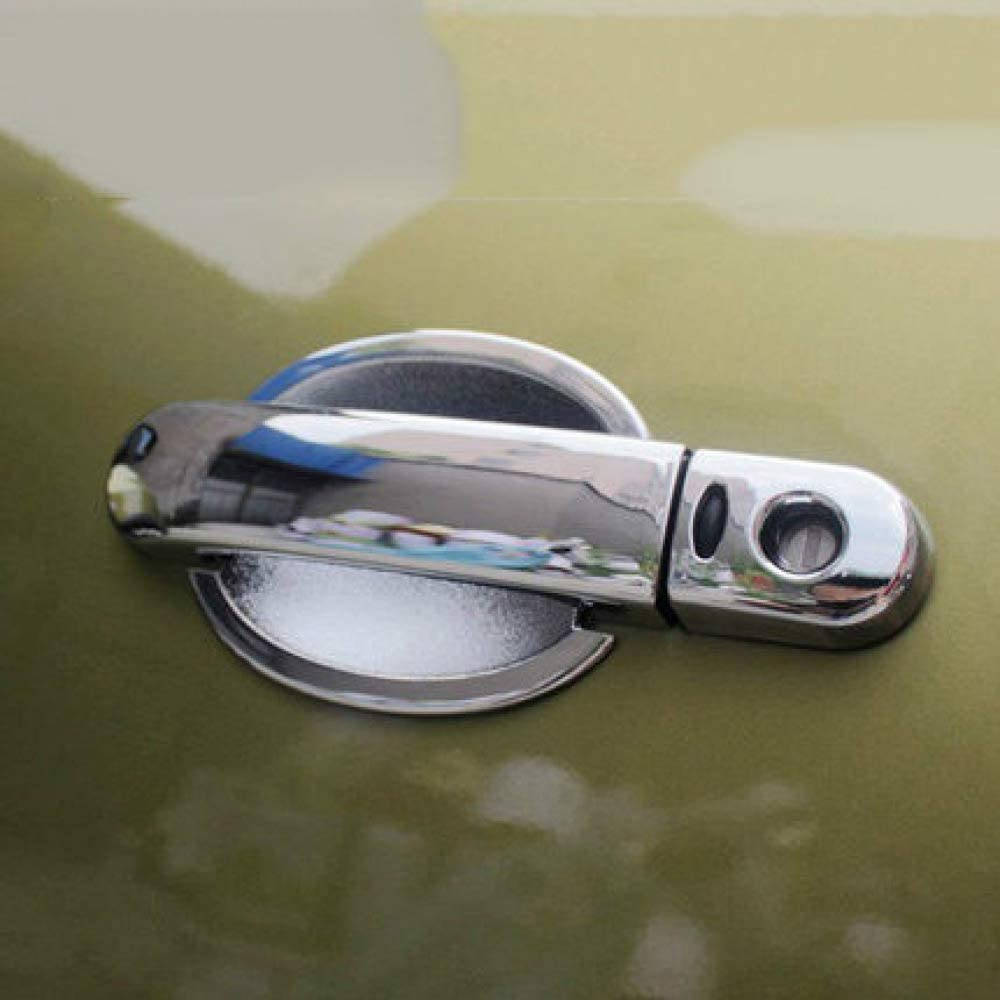 per Nissan March Micra K12 2003-2010 Cube Z11 2002-2008 Livina 2007-2013 Lfldmj Copri Maniglia della portiera dellauto in Fibra di Carbonio cromata