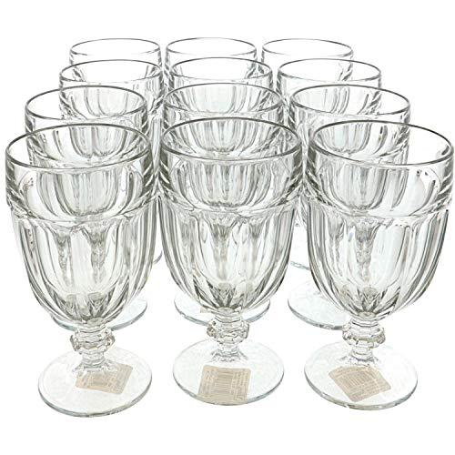 Libbey Gibraltar 16-Ounce Footed Iced Tea Glass, Box Of 12, Clear
