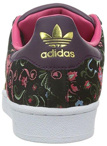 adidas Superstar W, Zapatillas de Running, Mujer Multicolor (Blanco/Rosa/Verde)