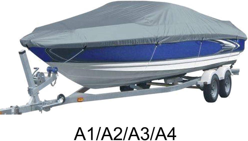 Funda para Barco remolcable de 11 a 22 pies Asdomo Resistente Tela Oxford 210D de Grado Marino Impermeable con protecci/ón contra Rayos UV