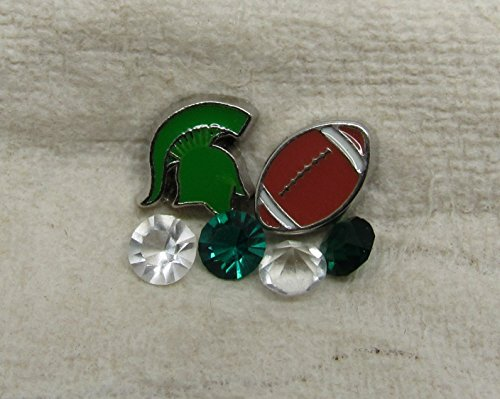 Michigan State Cutout Football Package Floating Charm