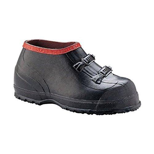 Overshoes, Men, 13, 2-Buckle, Blk, Rubber, PR ()